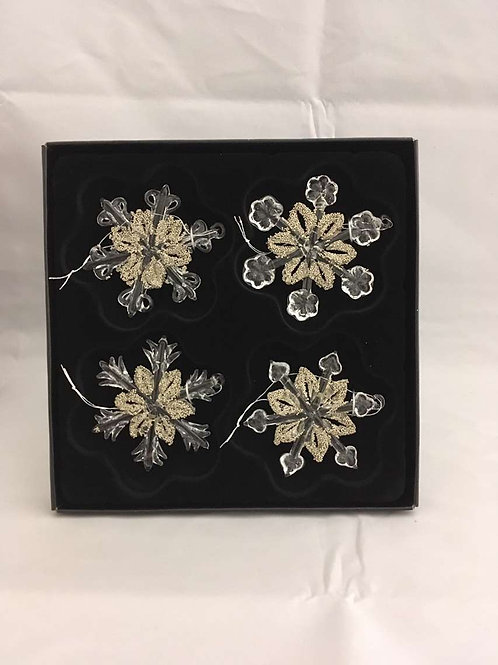 Glass snowflake tree ornaments