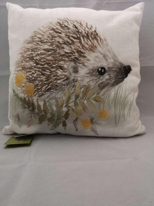Woodland hedgehog cushion