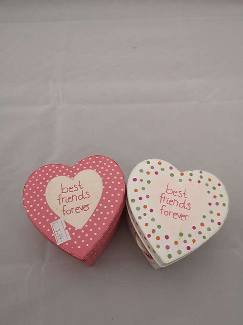 Best friends forever heart boxes
