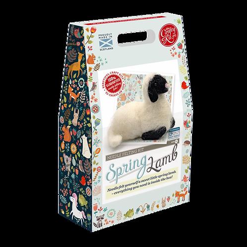 Spring Lamb Needle Felting Kit