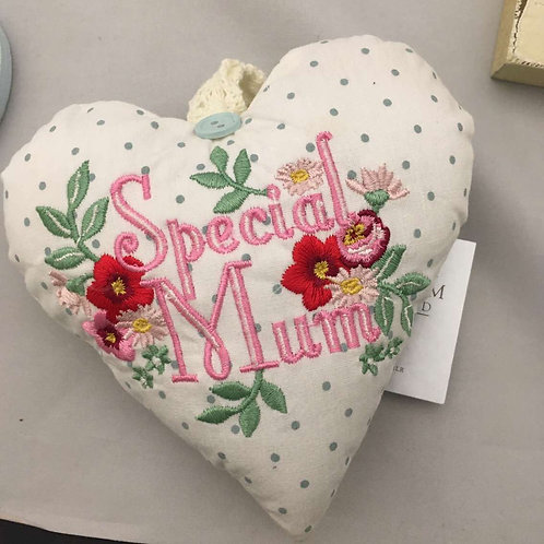 Special mum fabric heart