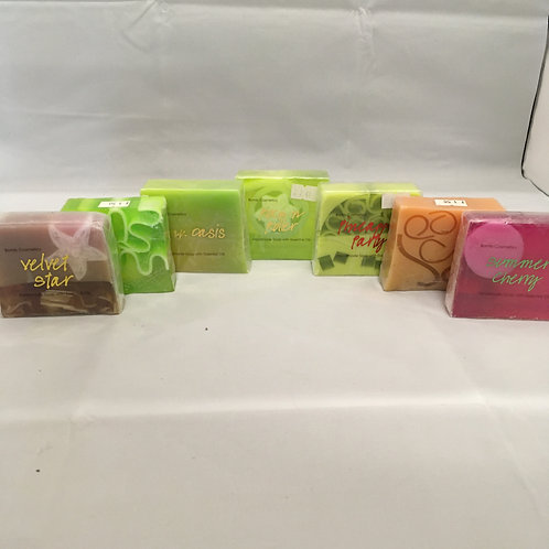 Scented patterned soaps