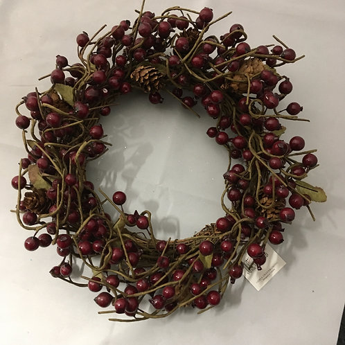 Berries  and twigs wreath