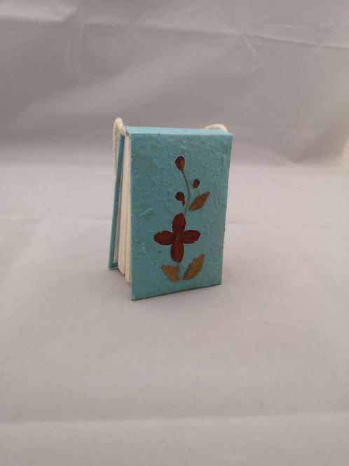 Mini blue flowery note pad
