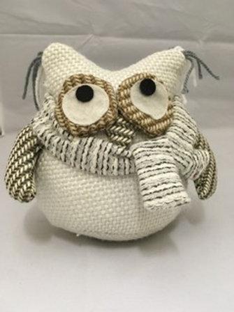 White owl doorstop