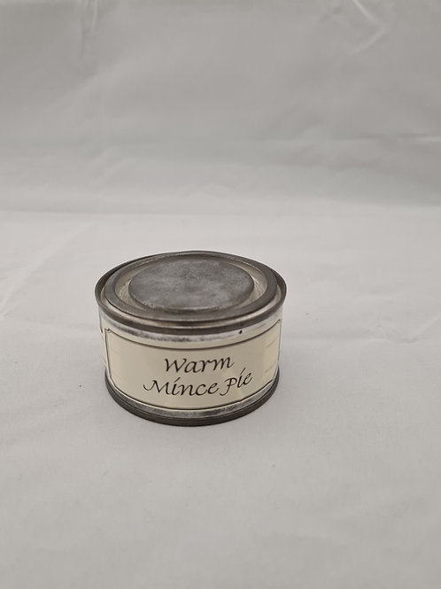 Warm mince pie candle