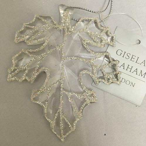 Clear 3D leaf tree ornament
