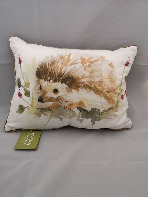 Piped country hedgehog cushion