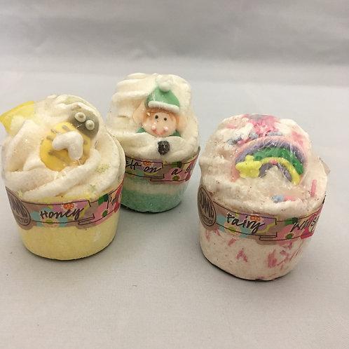 Colourful cupcake bath bombs
