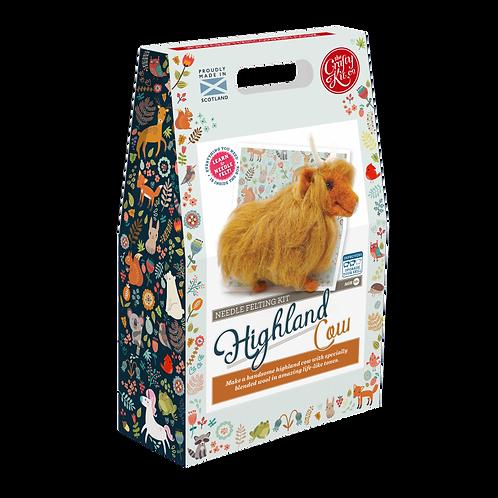 Highland Cow Needle Felt Kit