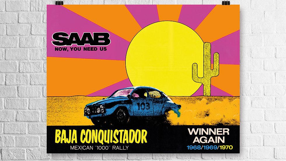 Baja Conquistador poster print