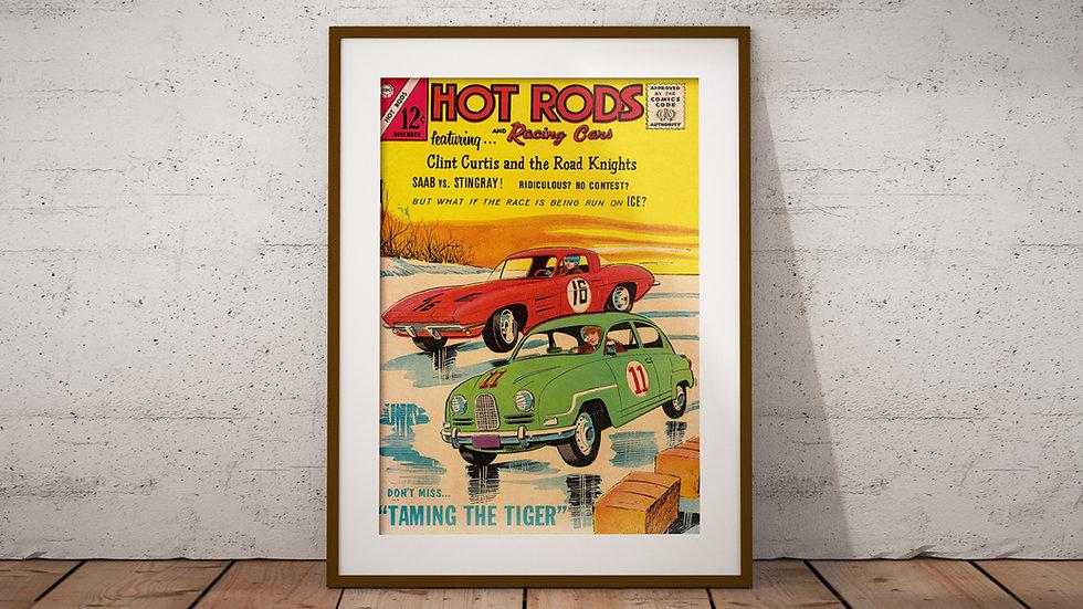 Vintage Hot Rods cover - Art Print