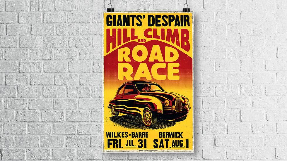 Vintage Saab Road Race - Art Print