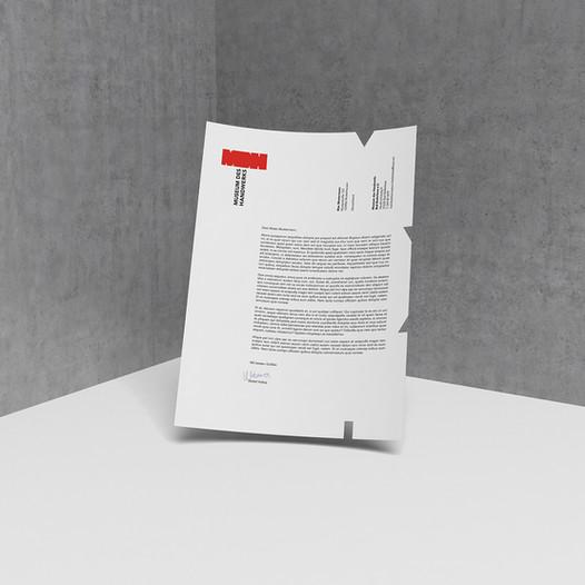 MDH – Briefpapier Vorderseite