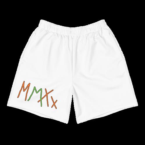 Exclusive MMXX Men's White Athletic Long Shorts