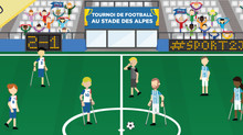 Les joueurs du GFFE au Stade des Alpes, mercredi 8 Juin !