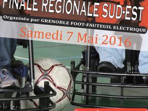 Venez découvrir le foot-fauteuil lors de la finale régionale Sud-Est le samedi 7 mai au Gymnase Ampè