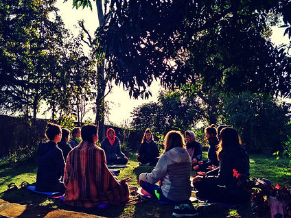 Open air Meditation and chanting_