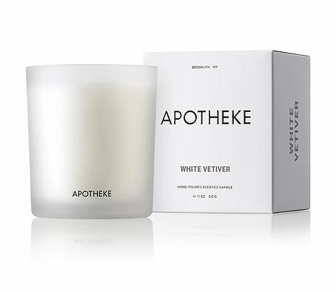 APOTHEKE White Vetiver Signature Candle 11oz