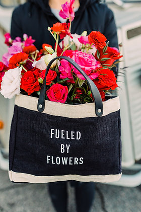Fueled by Flowers Market Bag