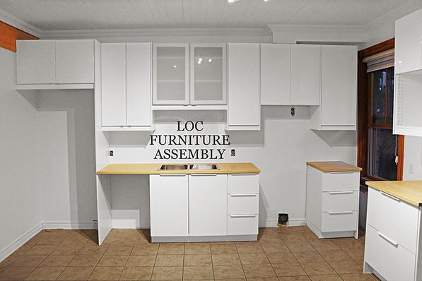 Gloss white IKEA kitchen