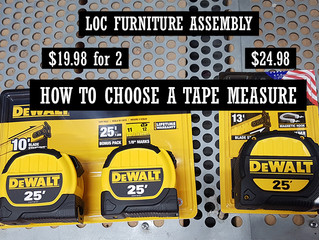 HOW TO CHOOSE A TAPE MEASURE