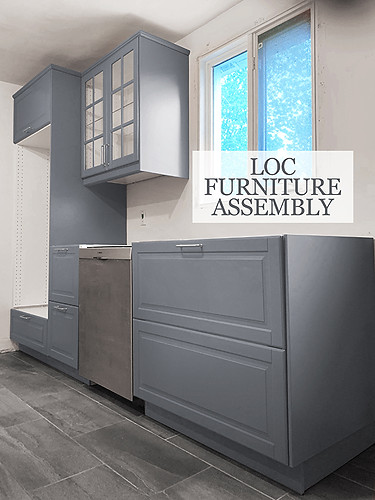 Combination of upper cabinets, lower cabinets and spacing for dishwasher