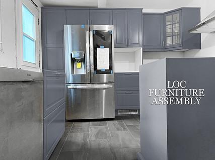 Gray IKEA kitchen