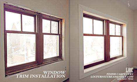 Window trim installation