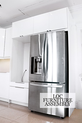 IKEA kitchen with gloss white finish