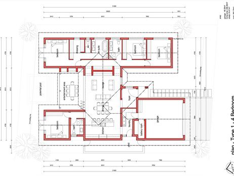 Type 1 - 4 Bedroom