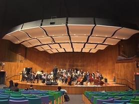 Rehearsal at MIT's Kresge Auditorium