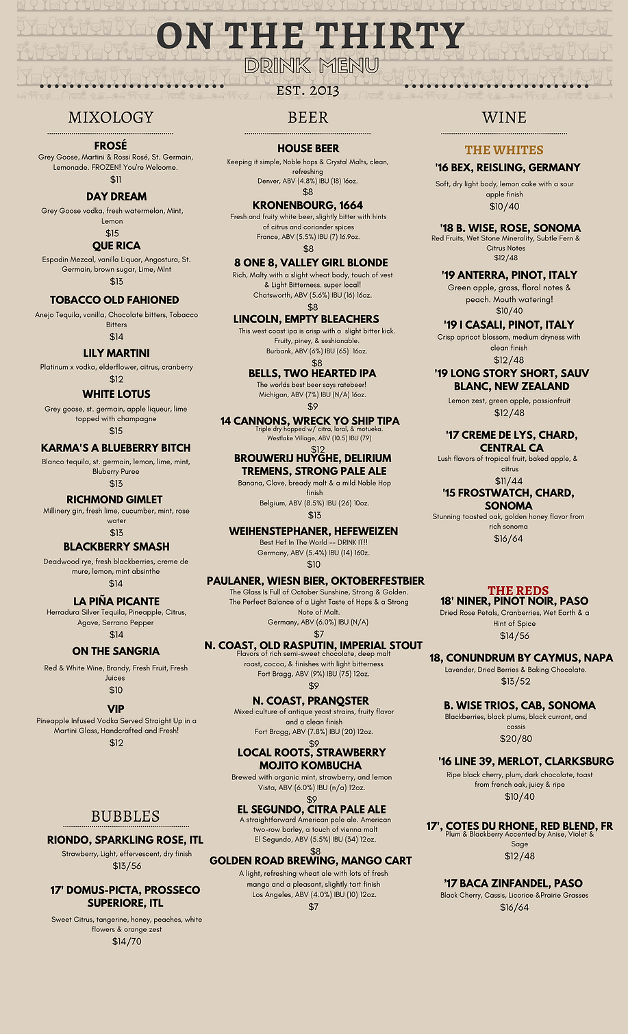 Copy of ON THE THIRTY - DRINK MENU(6).pn
