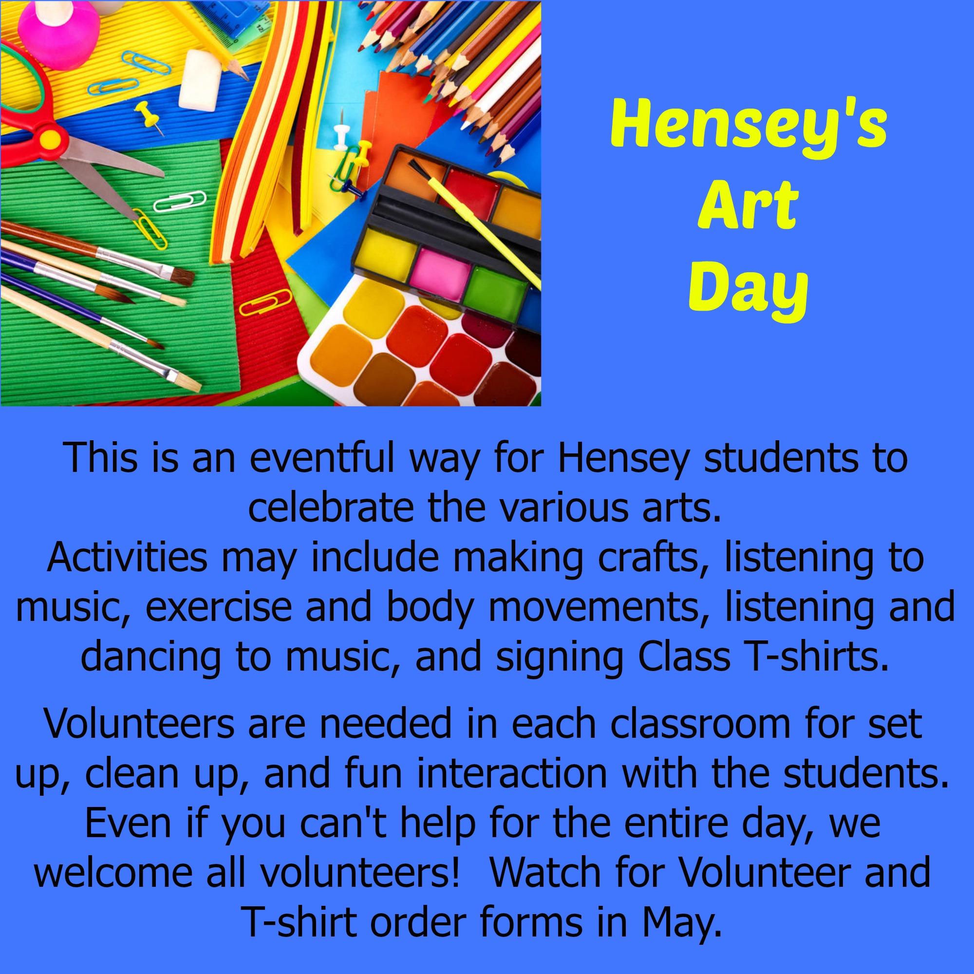 Hensey Art Day Poster