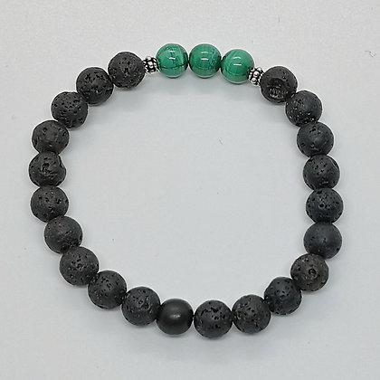 Bracelet perles - Malachite