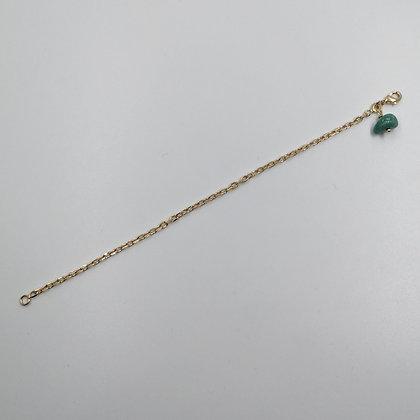 Bracelet Plaqué Or, Turquoise