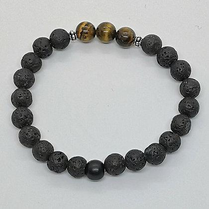 Bracelet perles - Oeil de tigre
