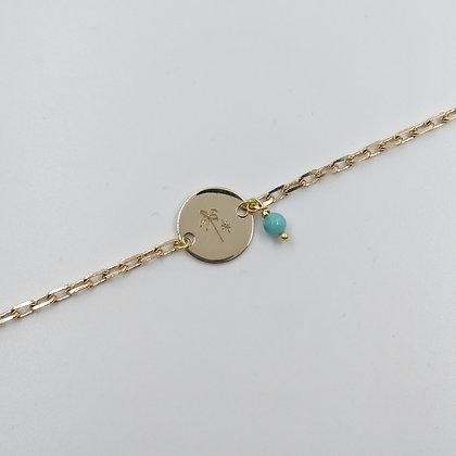 Bracelet Plaqué Or - Palmier