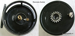 1- DAWSON JUNIOR Fly reel made in Melbourne Australia, internal mechanism