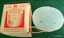 4 - Capstan vintage fishing bait bucket & Box made in Australia