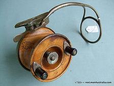 Alvey vintage Wedgelock fishing reel with wooden spool