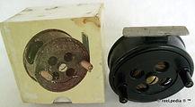 1- Rainbow Bakelite vintage Fly reel mad