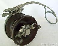 ALVEY wedge lock Flat crank vintage side cast fishing reel