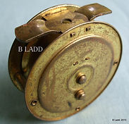 EBRO old all brass, optinal check fly fishing reel made in Australia by Rogers brothers, Melbourne in 1930.