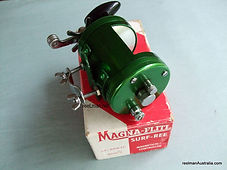 Greene  anodised Magna-Flite vintage fishing reel with original box
