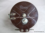 Climax Bakelite vintage fishing reel X back plate view Extremely rare modle