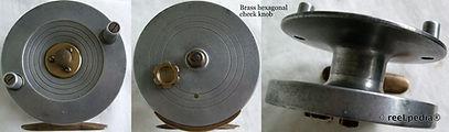 2-Vintage Brass & metal centre pin workshop fishing reel