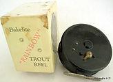 2- Rainbow Bakelite vintage Fly reel wit