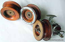SEAMARTIN Wood Surf Fishing Reel, Rare First production modle made by Cliff Martin, Lakes Entance, Victoria Australia.