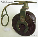 2- PACIFIC side cast vintage fishing ree